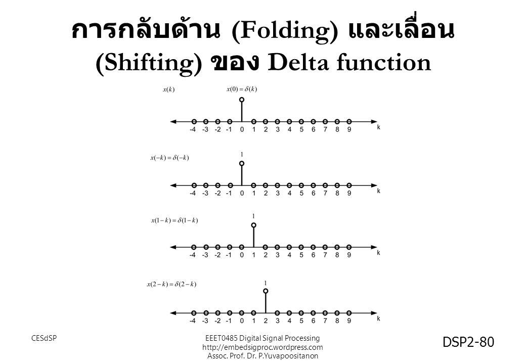 การกลับด้าน (Folding) และเลื่อน (Shifting) ของ Delta function CESdSPEEET0485 Digital Signal Processing http://embedsigproc.wordpress.com Assoc. Prof.
