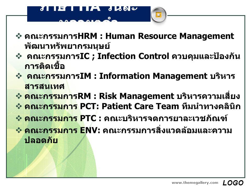 ภาษา HA วันละ หลายๆคำ  คณะกรรมการHRM : Human Resource Management พัฒนาทรัพยากรมนุษย์  คณะกรรมการIC ; Infection Control ควบคุมและป้องกัน การติดเชื้อ