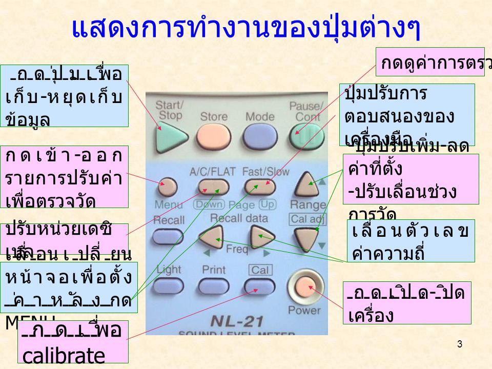 4 การ calibrate ด้วยเครื่อง 1.กด MENU เข้าสู่หน้าจอนี้ 2.