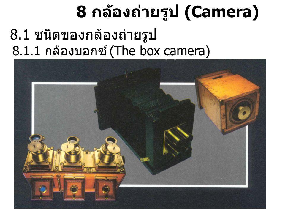 8 กล้องถ่ายรูป (Camera) 8.1 ชนิดของกล้องถ่ายรูป 8.1.1 กล้องบอกซ์ (The box camera)