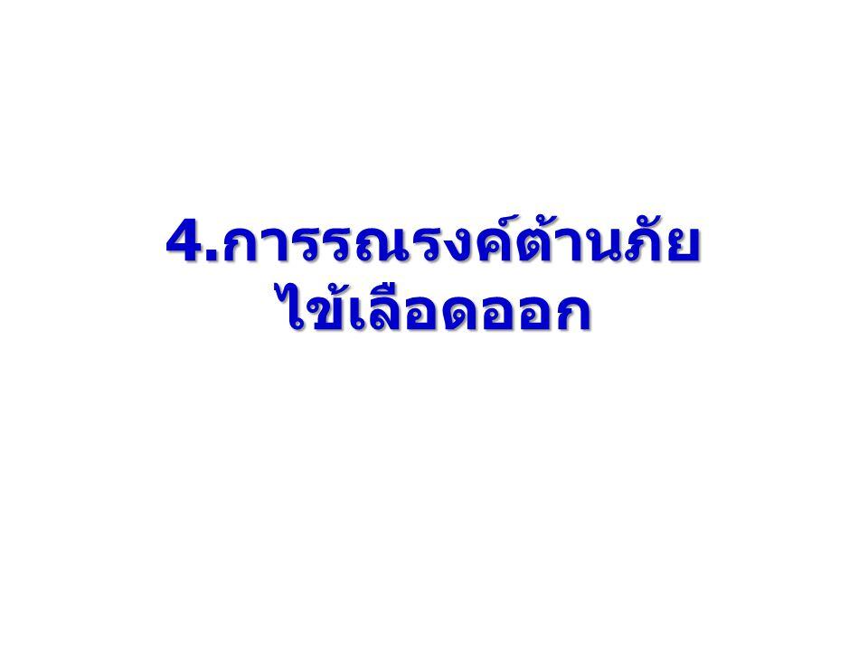 4. การรณรงค์ต้านภัย ไข้เลือดออก