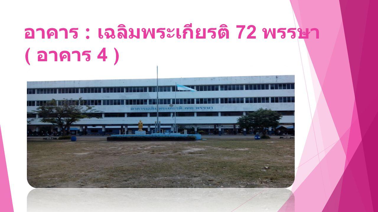 อาคาร : เฉลิมพระเกียรติ 72 พรรษา ( อาคาร 4 )