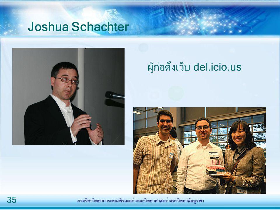 35 Joshua Schachter ผู้ก่อตั้งเว็บ del.icio.us