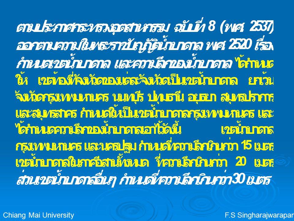 F.S SingharajwarapanChiang Mai University