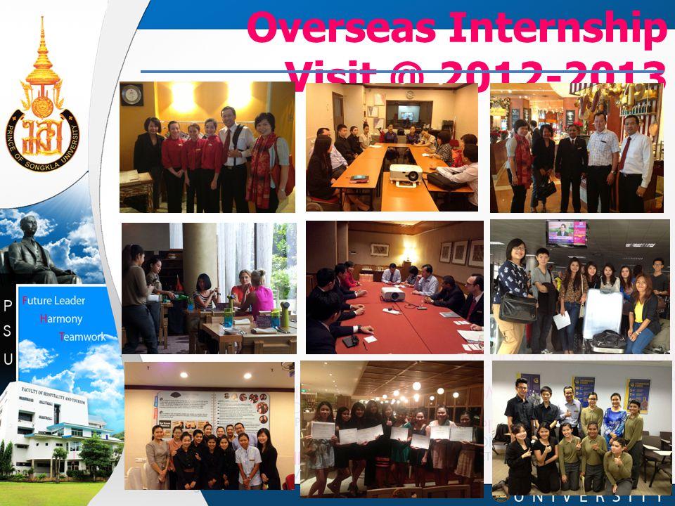Overseas Internship Visit @ 2012-2013