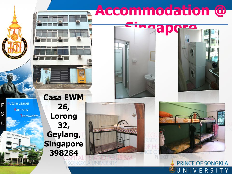 Accommodation @ Singapore Casa EWM 26, Lorong 32, Geylang, Singapore 398284