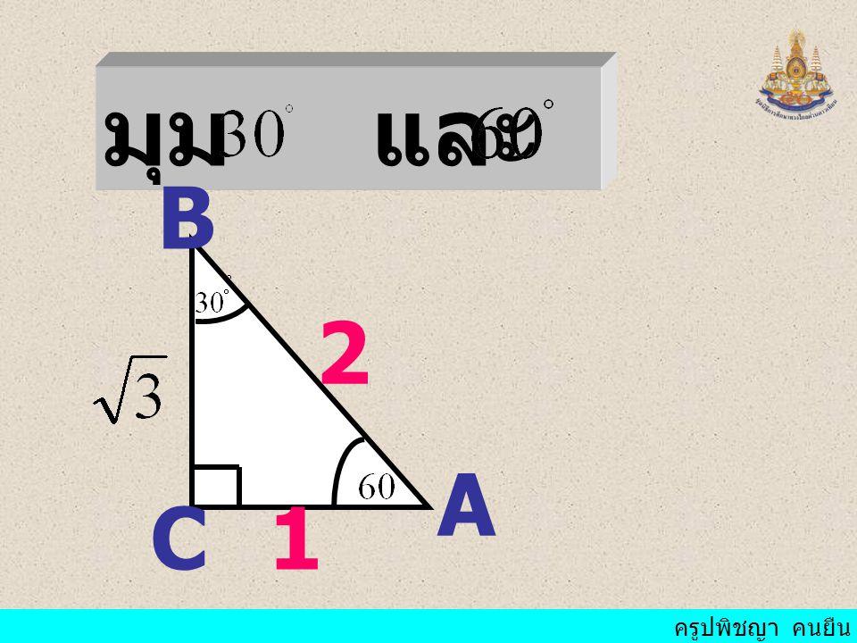 ครูปพิชญา คนยืน จงบอกขนาดของ มุมจากอัตราส่วน ตรีโกณมิติต่อไปนี้ (1) Sin A= A = (2) Sin B = B = (3) Cos C = C =