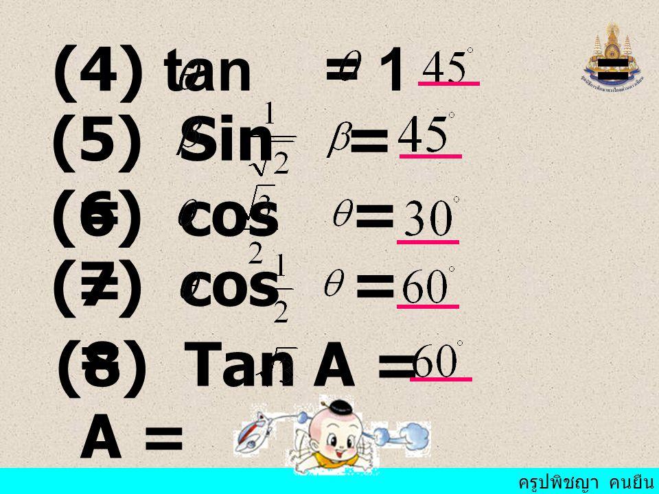 ครูปพิชญา คนยืน ถ้า AC = 5 ซม. จงหา AB และ BC ตัวอย่าง ที่ 1 ABC เป็น มุม ฉากที่ B และ มี ขนาด