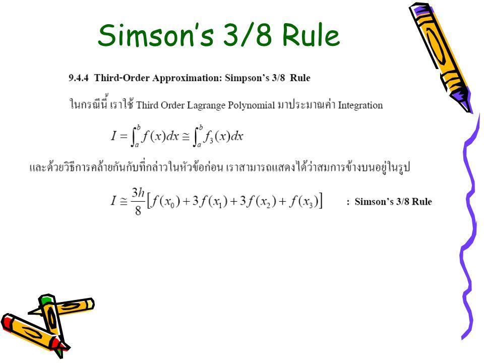 Simson's 3/8 Rule