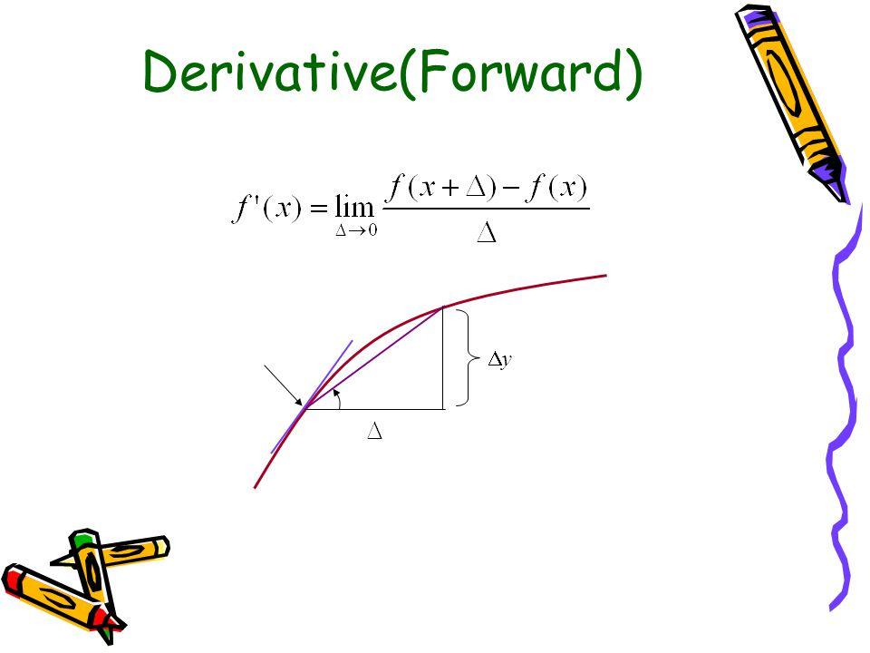 Derivative(Backward) yy