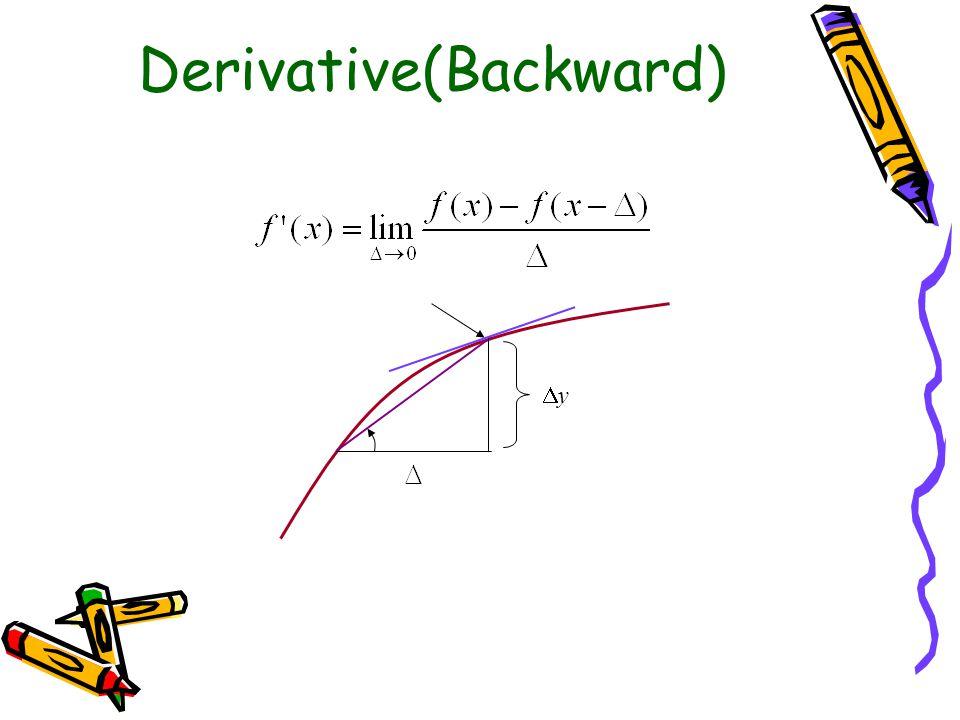 Derivative(Central) yy