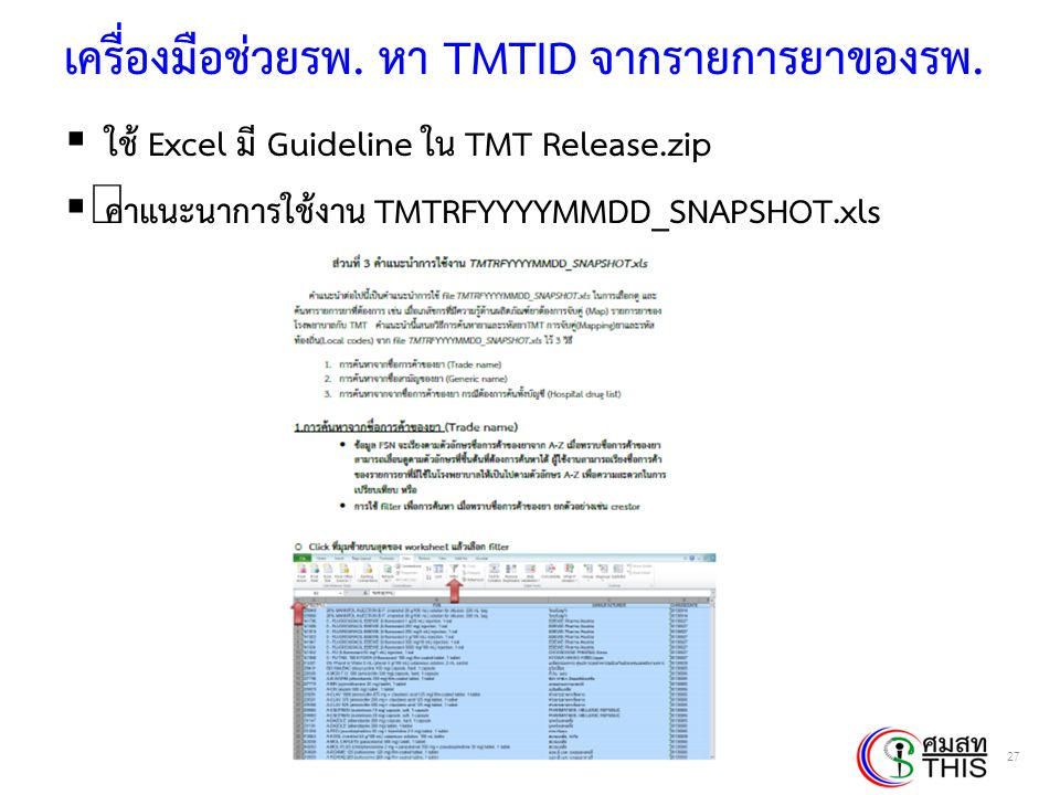 Thai Health Informatics Academy Thai Health Information Standard Development Center(THIS) เครื่องมือช่วยรพ.