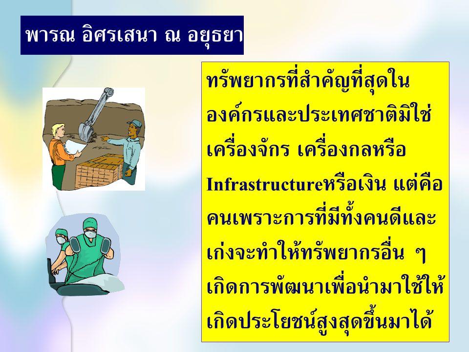 ผู้บังคับบัญชากับการสอนงาน เพื่อพัฒนาผลการปฏิบัติงาน 27-29 มกราคม 2549