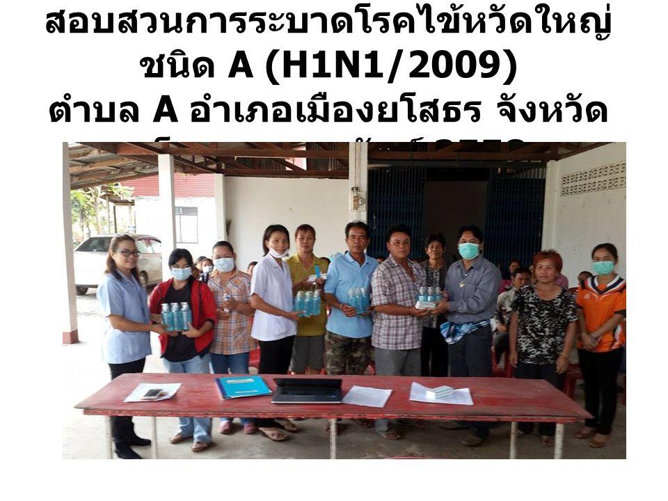 สอบสวนการระบาดโรคไข้หวัดใหญ่ ชนิด A (H1N1/2009) ตำบล A อำเภอเมืองยโสธร จังหวัด ยโสธร กุมภาพันธ์ 2558
