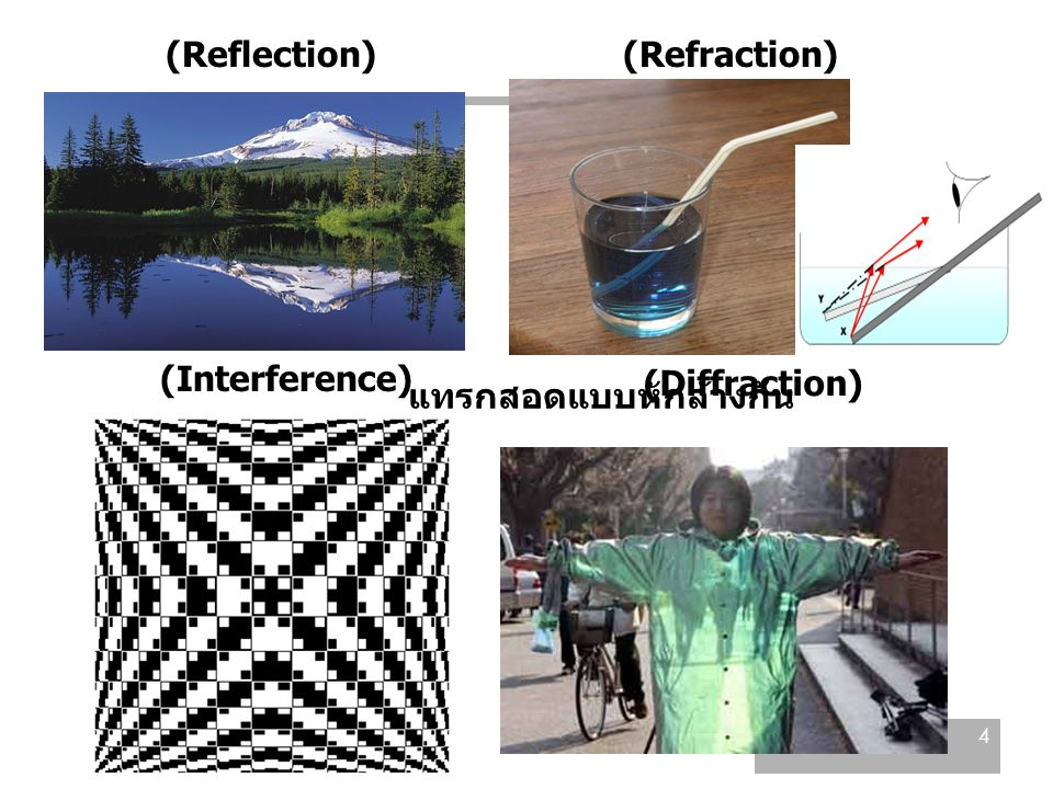 การทดลองช่องเปิดคู่ของยัง (Young's Double- Slit Experiment) 15 Summary the positions of the bright fringes: the positions of the dark fringes: