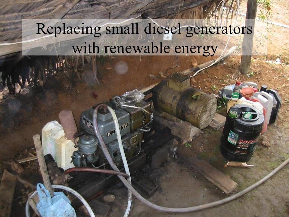 Replacing small diesel generators with renewable energy