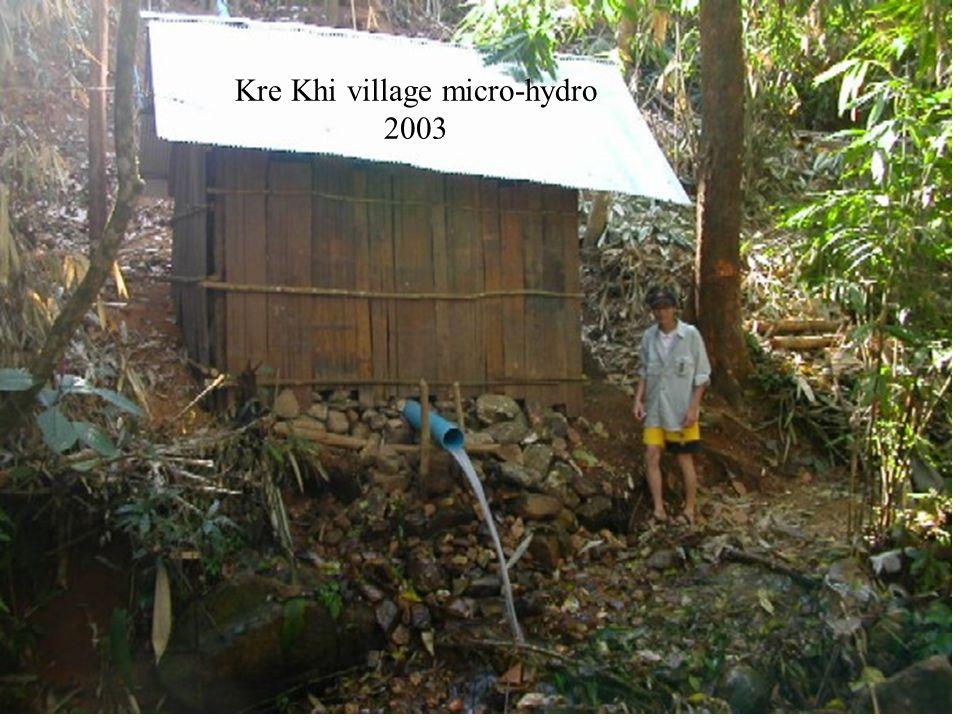 Kre Khi village micro-hydro 2003