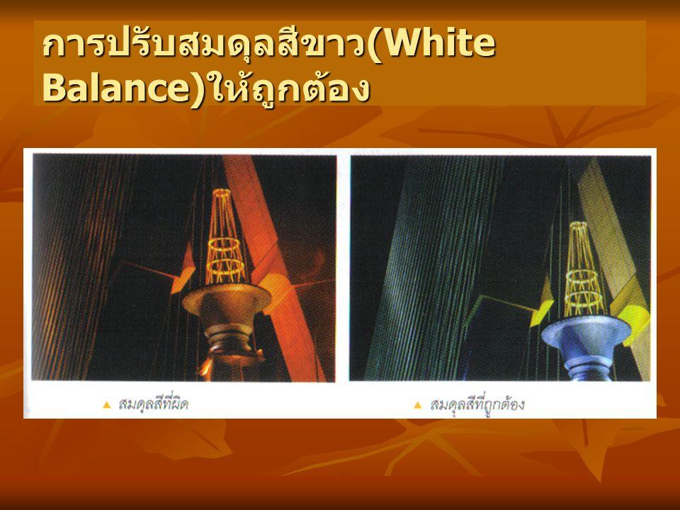 การปรับสมดุลสีขาว (White Balance) ให้ถูกต้อง