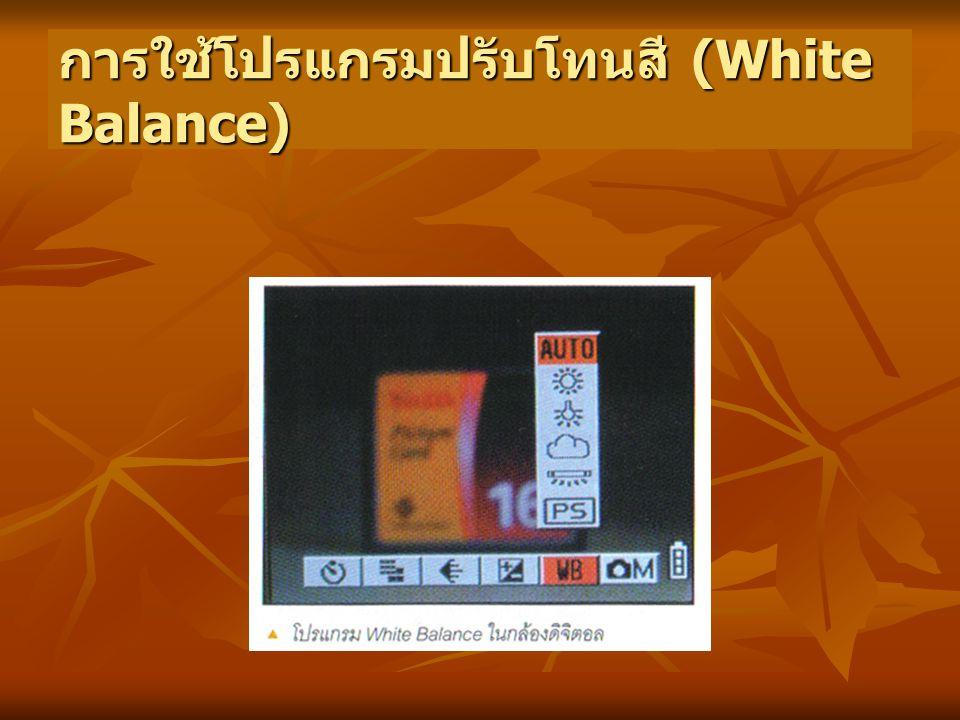 การใช้โปรแกรมปรับโทนสี (White Balance)