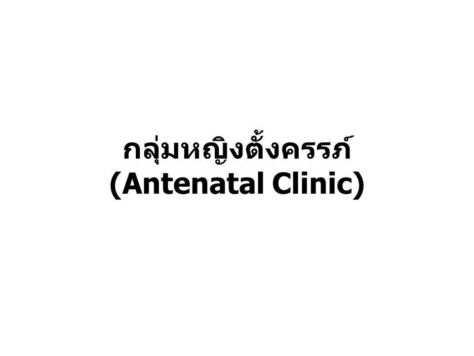 กลุ่มหญิงตั้งครรภ์ (Antenatal Clinic)