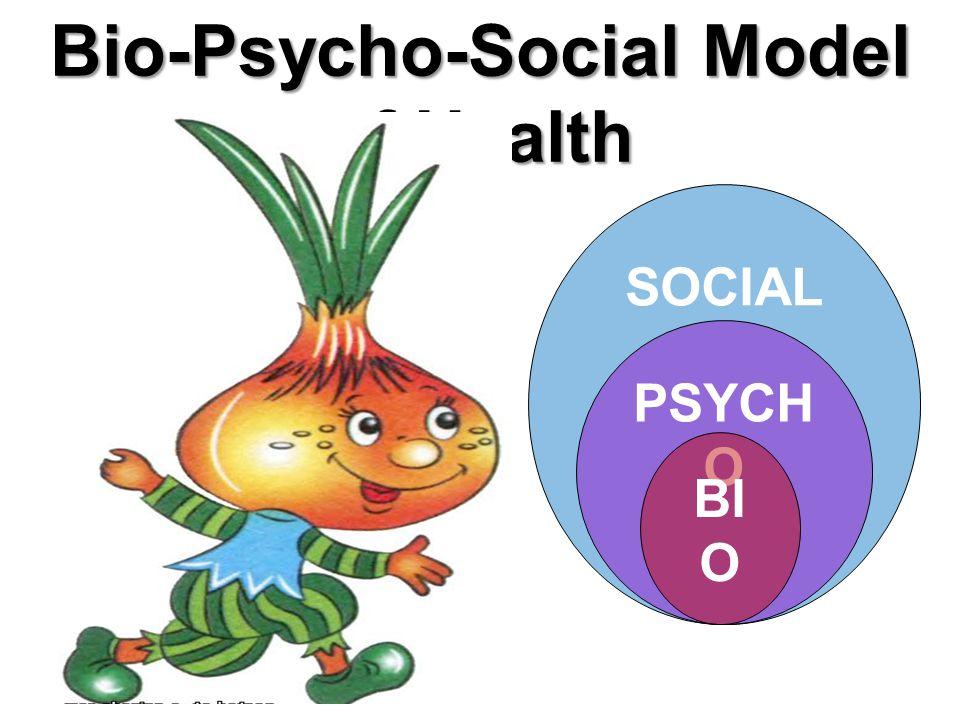 SOCIAL PSYCH O Bio-Psycho-Social Model of Health BIO PSYC HO SOCI AL BI O