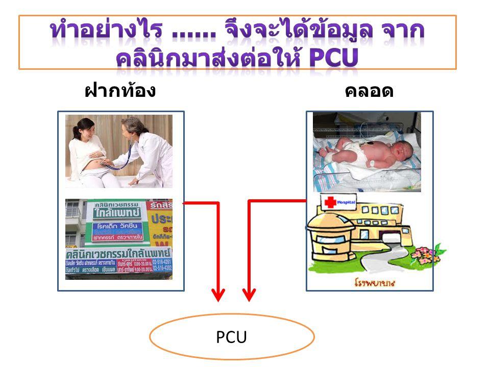 ฝากท้องคลอด PCU