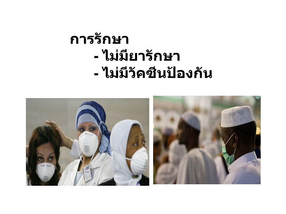 การรักษา - ไม่มียารักษา - ไม่มีวัคซีนป้องกัน