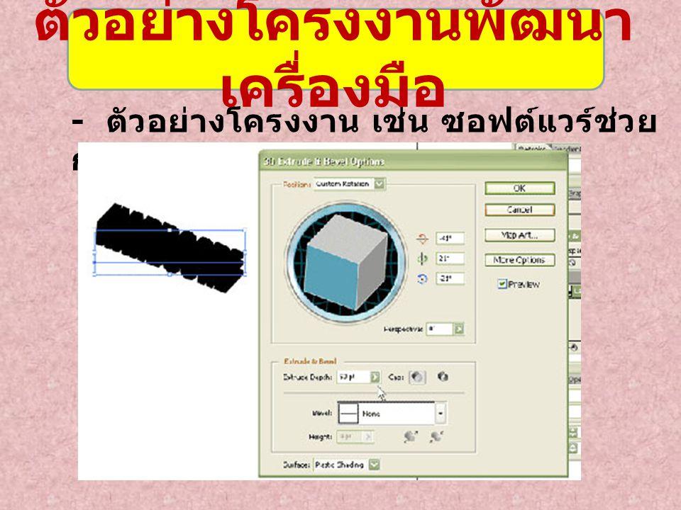 1.โปรแกรมการค้นหาคำ ภาษาไทย 2. โปรแกรมอ่านอักษรไทย 3.
