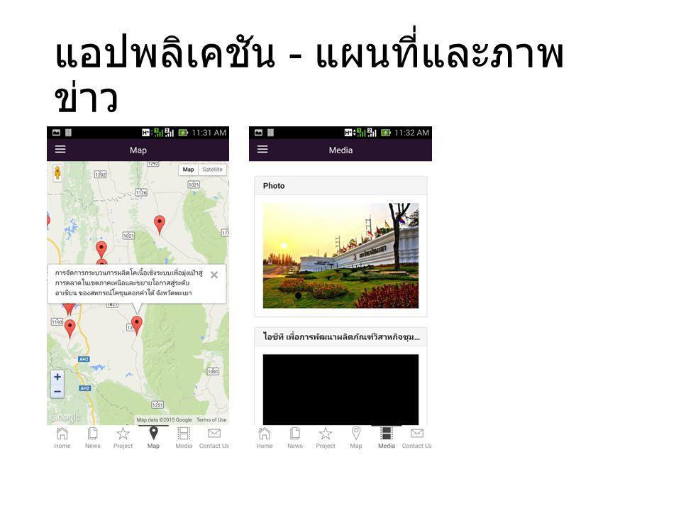 แอปพลิเคชัน - แผนที่และภาพ ข่าว