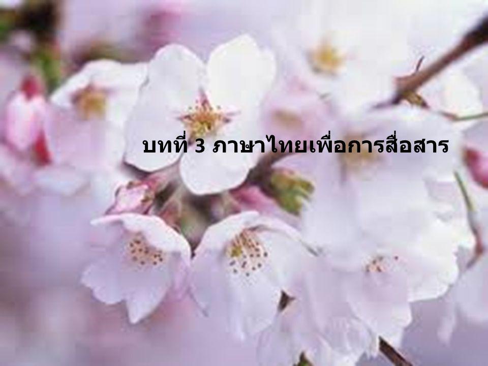 การใช้ภาษาและ เทคโนโลยีสำหรับครู ภาษาไทย เพื่อการสื่อสาร