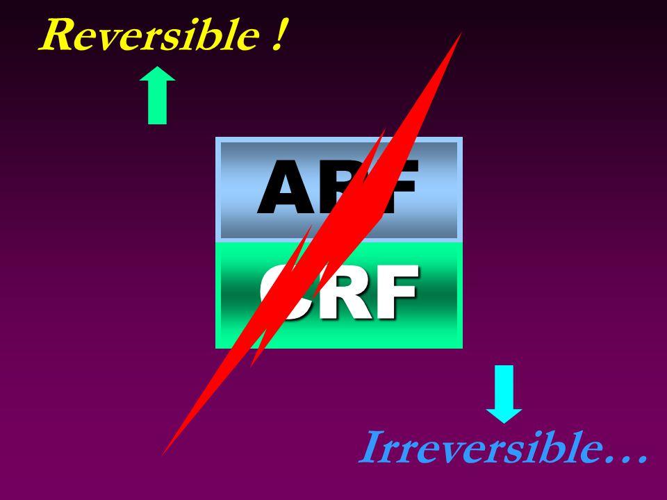 ARF CRF Reversible ! Irreversible…