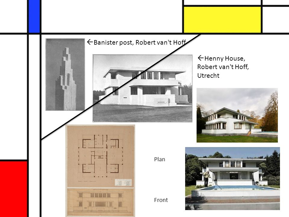  Henny House, Robert van't Hoff, Utrecht  Banister post, Robert van't Hoff Plan Front