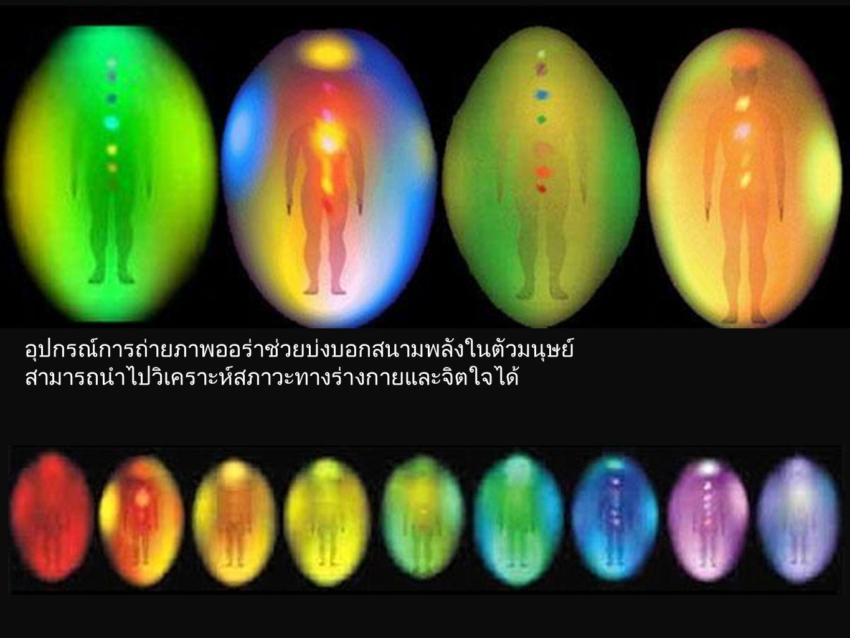 อุปกรณ์การถ่ายภาพออร่าช่วยบ่งบอกสนามพลังในตัวมนุษย์ สามารถนำไปวิเคราะห์สภาวะทางร่างกายและจิตใจได้