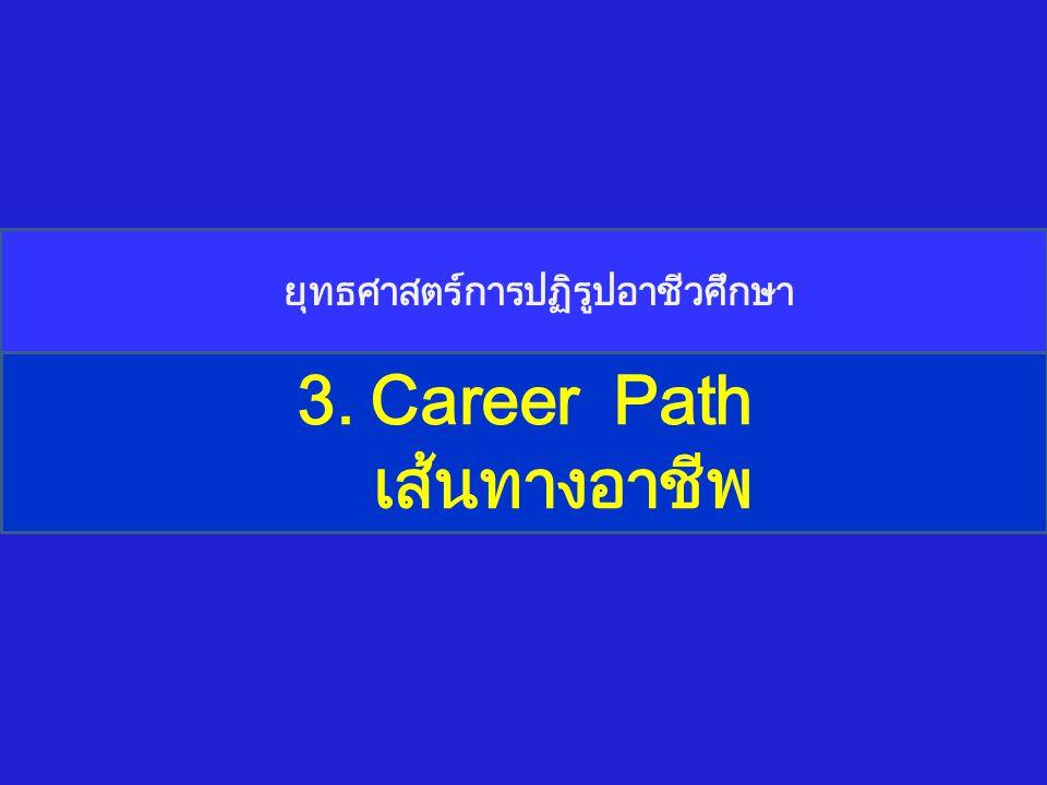 3. Career Path เส้นทางอาชีพ ยุทธศาสตร์การปฏิรูปอาชีวศึกษา