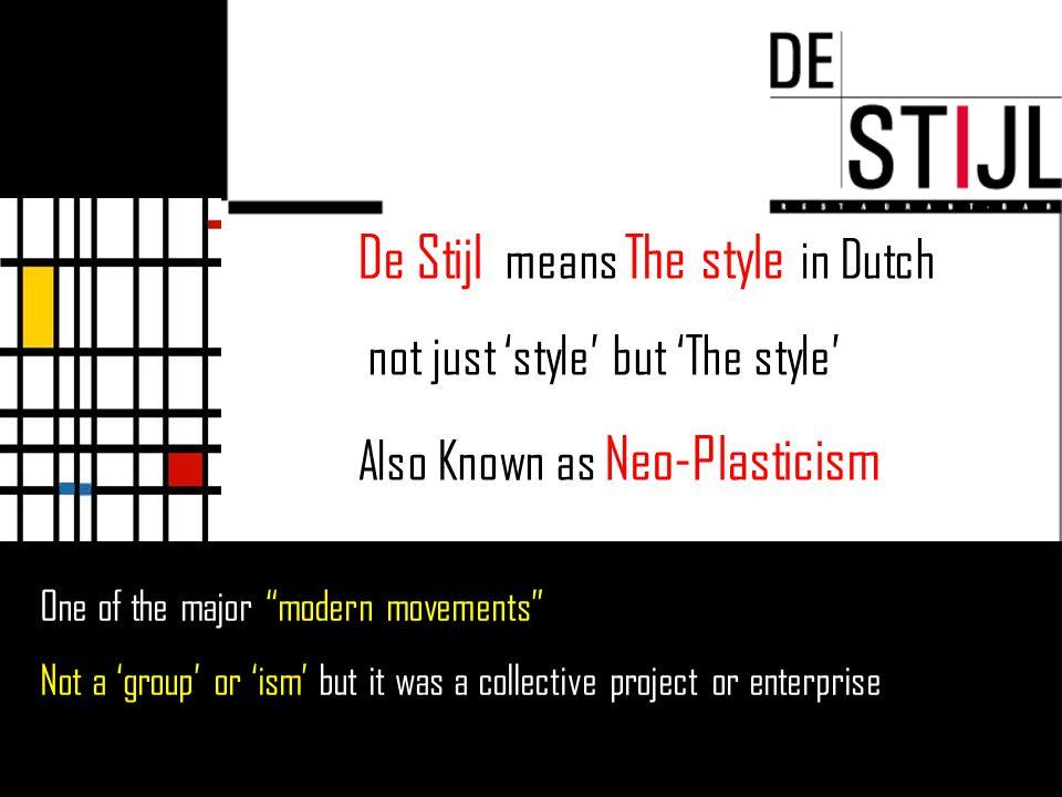 DE STIJL Architecture J.J.P.
