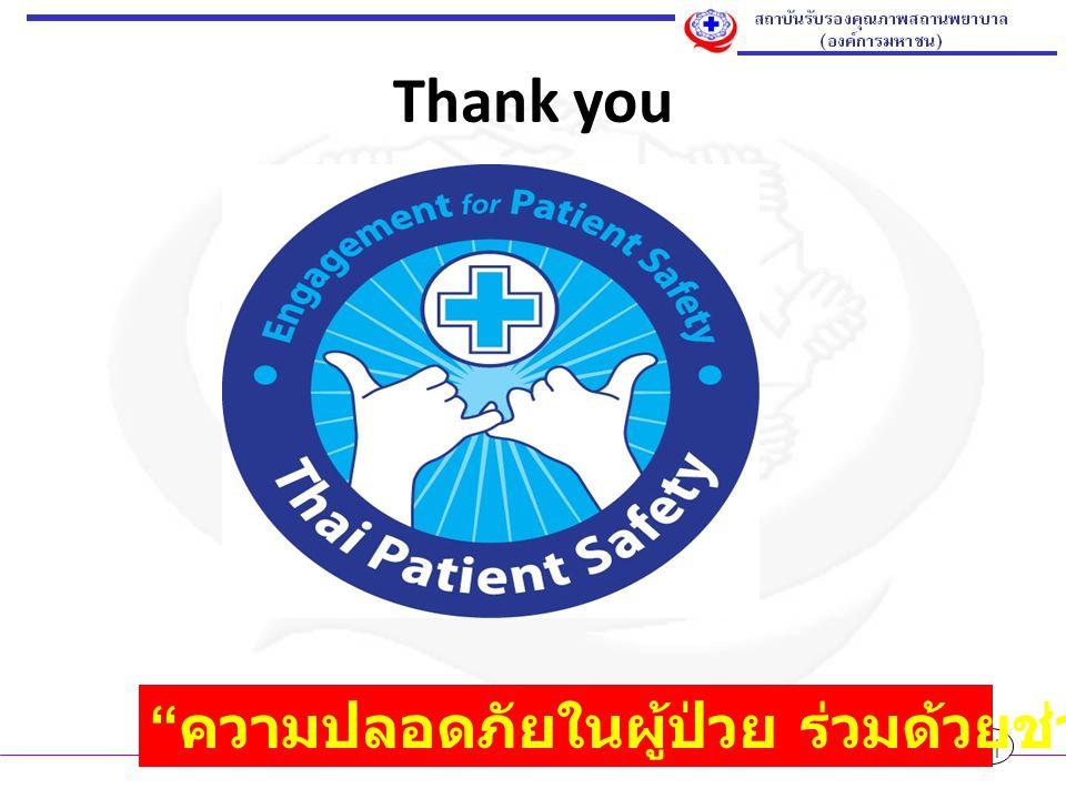 """Thank you 21 """" ความปลอดภัยในผู้ป่วย ร่วมด้วยช่วยได้ทุกคน """""""