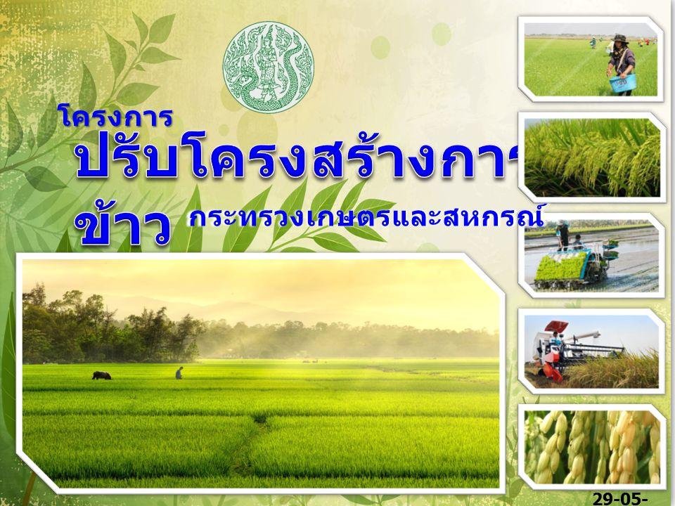 1 กระทรวงเกษตรและสหกรณ์ โครงการ 29-05- 58