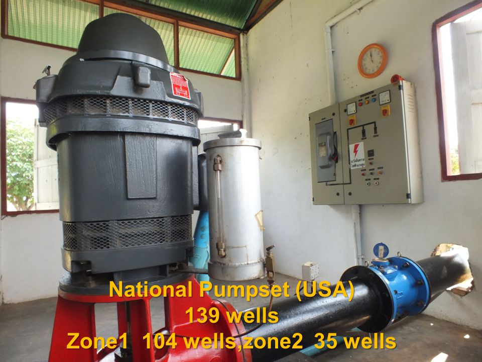 NO.Well No.Farmer s NameDate Water pumping (m3) Cost of Electricity (Baht) Remark 1A01-13Miss Nongnut 25/2/2012 519 223.53 Unit cost of water 2A01-06Mr.Sukit 7/3/2012 261 112.41 0.43 3A01-13Miss Nongnut 10/3/2012 1,664 716.67 Baht 4A01-11Mrs.Sanya 11/3/2012 1,655 712.80 5A01-12Mrs.Sompong 24/2/2012 467 201.13 6A01-02Mr.Anan 7/3/2012 665 286.41 7A02-04Mr.pratin 9/3/2012 1,070 460.84 8A02-05Mrs.Toom 1/3/2012 1,080 465.15 9A02-05Mrs.Toom 2/3/2012 1,080 465.15 10A02-05Mrs.Toom 3/3/2012 428 184.34 11A02-05Mrs.Toom 10/3/2012 1,070 460.84 12A02-05Mrs.Toom 11/3/2012 652 280.81 13A02-05Mrs.Toom 23/2/2012 328 141.27 14A02-06Mr.Kearn 7/3/2012 1,071 461.27 Report On Jan 25 2012 X0.43