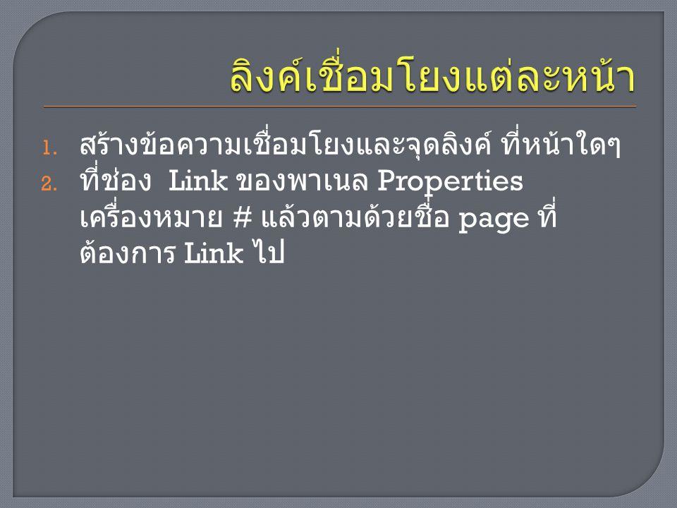  Link สร้างลิงค์  Button ปุ่มคำสั่งพำหะ  Input ปุ่มใช้กับ form เช่น submit, reset, ปุ่ม รูปภาพ