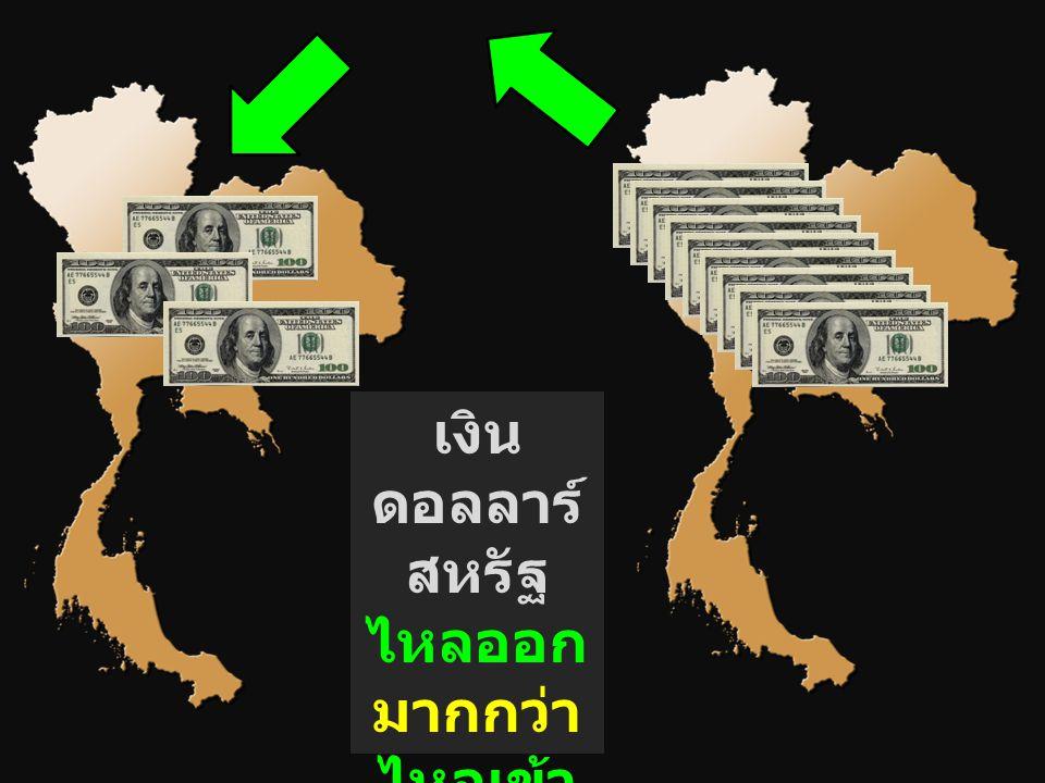 เงิน ดอลลาร์ สหรัฐ ไหลออก มากกว่า ไหลเข้า