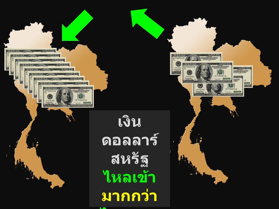 เงิน ดอลลาร์ สหรัฐ ไหลเข้า มากกว่า ไหลออก