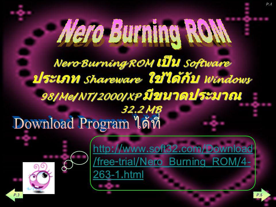 Nero Wave Editor เป็นโปรแกรมที่มากับ โปรแกรม Nero Burning Rom ที่เป็นเวอร์ชั่น ใหม่ ๆ ซึ่งถ้าได้ทำการติดตั้งโปรแกรม Nero Burning Rom แล้ว โปรแกรมอื่น ๆ ก็จะถูก ติดตั้งมาด้วยโดยอัตโนมัติ เช่น โปรแกรม Nero Cover Designer ( โปรแกรมทำหน้าปกซีดี ดีวีดี ) หรือ Nero Wave Editor ( โปรแกรมแก้ไข ไฟล์เสียง ) ในที่นี้จะกล่าวถึงการนำเพลง MP3 มาตัดต่อเฉพาะท่อนเพลงที่ต้องการ เพื่อนำมาเป็นเสียงเรียกเข้าใน โทรศัพท์มือถือ P.4 P.2 P.3