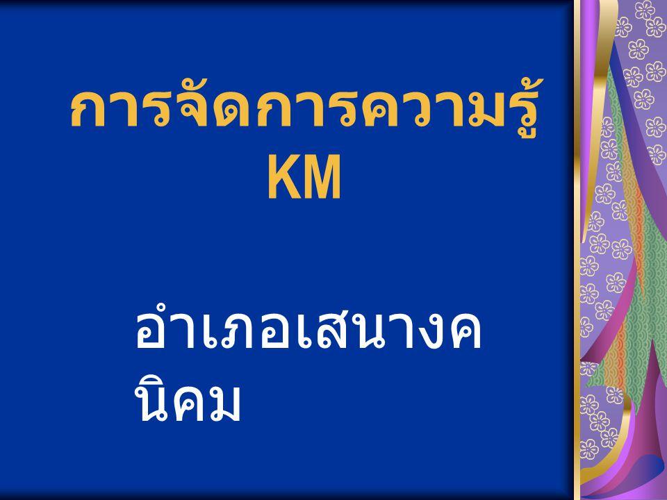 การจัดการความรู้ KM อำเภอเสนางค นิคม