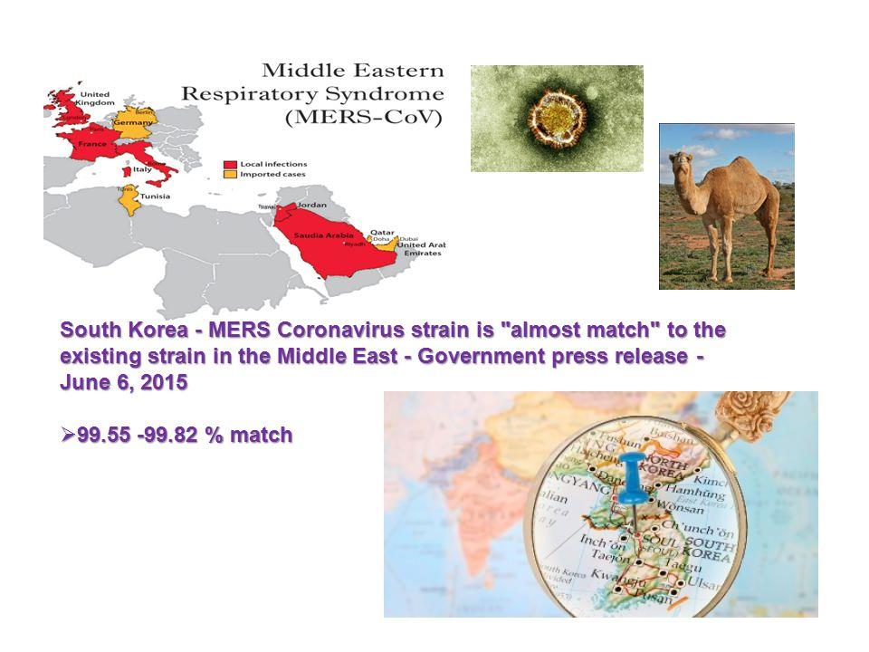 South Korea - MERS Coronavirus strain is