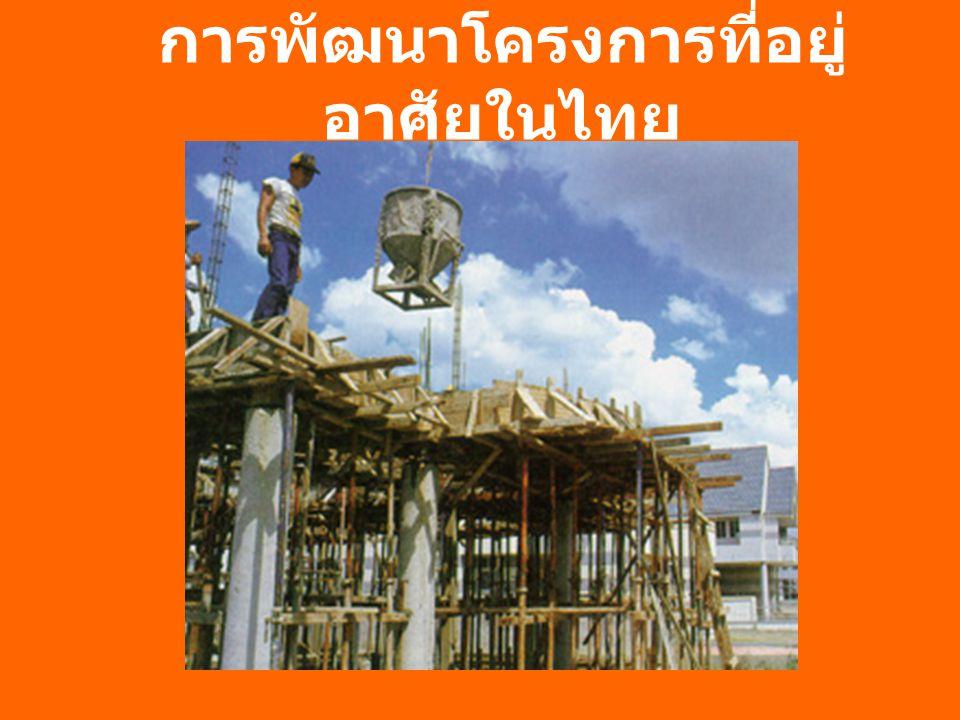 การพัฒนาโครงการที่อยู่ อาศัยในไทย