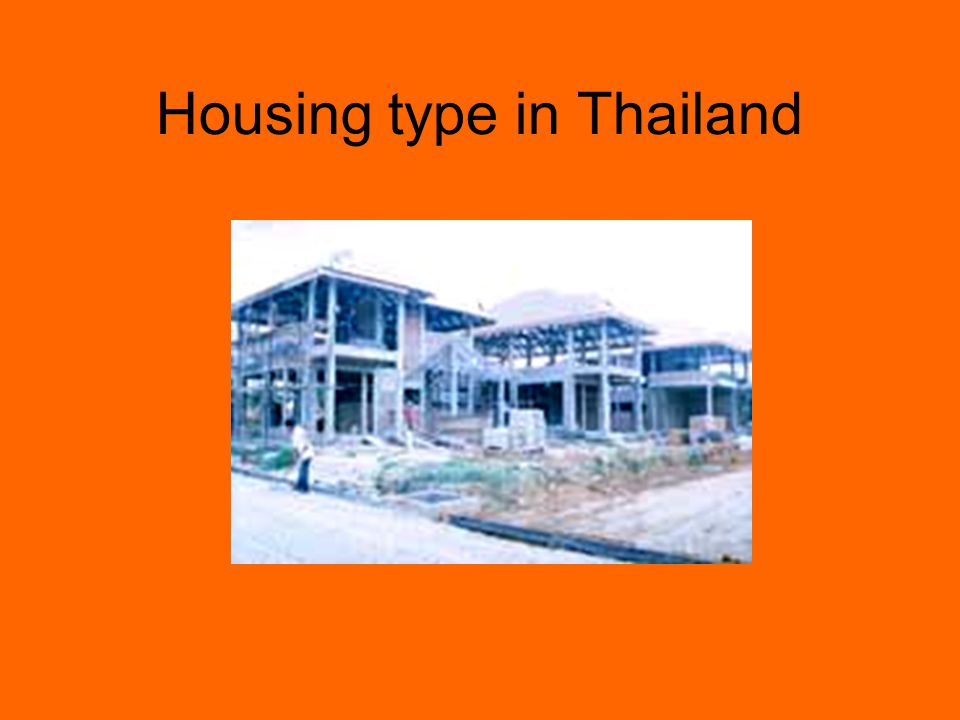 รูปแบบที่อยู่อาศัยในไทย ๑ การจัดทำโครงการที่อยู่อาศัยของ การเคหะแห่งชาติ - โครงการบ้านเดี่ยว บ้านแฝด ทาวน์ เฮ้าส์ - โครงการอาคารชุดพักอาศัย - โครงการบ้านเอื้ออาทร - โครงการอาคารชุดพักอาศัยเอื้ออาทร - โครงการจัดสรรที่ดินเปล่าพร้อม สาธารณูปโภค