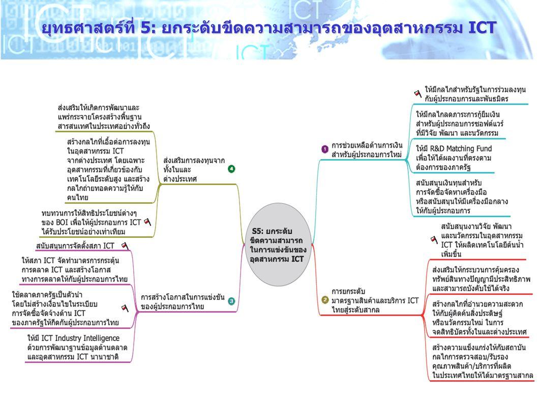 14 ยุทธศาสตร์ที่ 5: ยกระดับขีดความสามารถของอุตสาหกรรม ICT