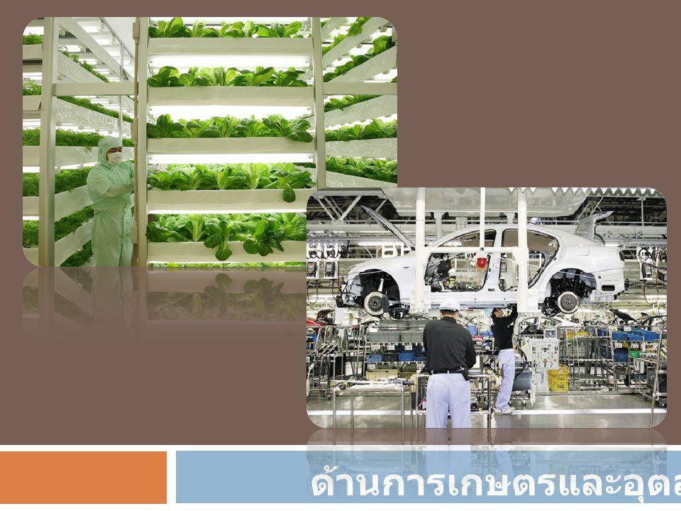 ด้านการเกษตรและอุตสาหกรรม
