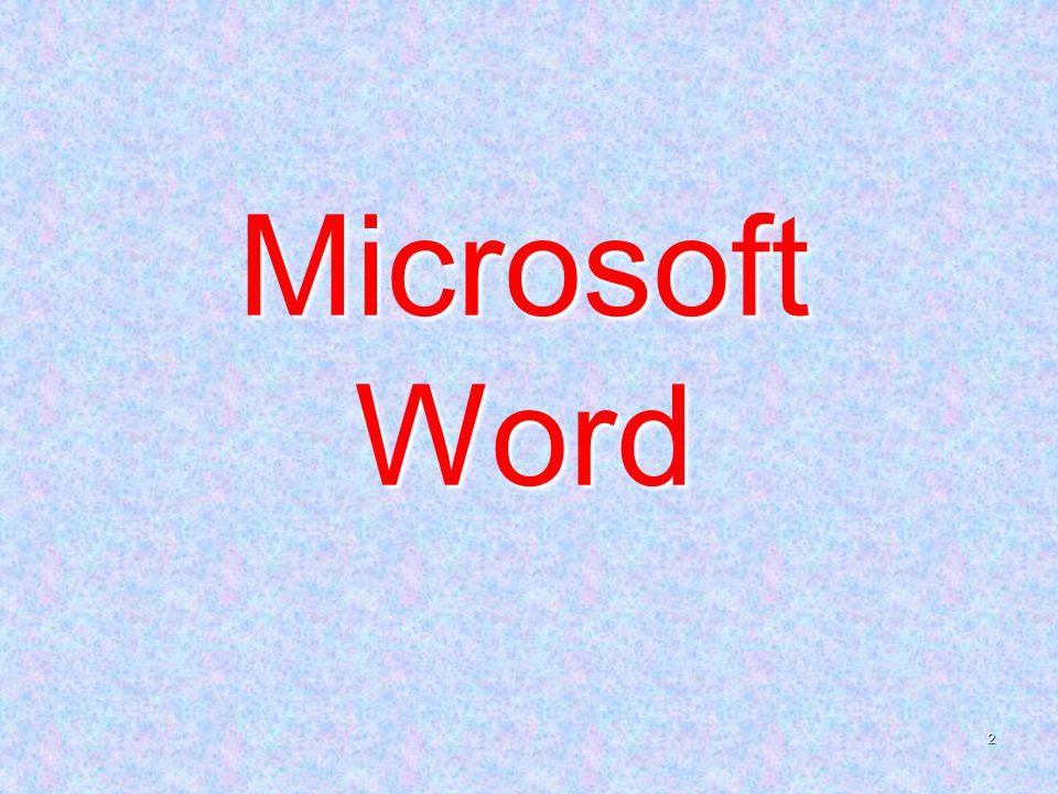 2 Microsoft Word