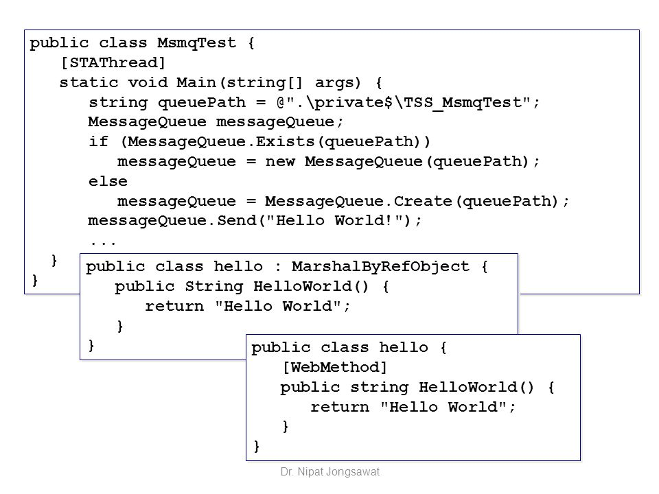 public class MsmqTest { [STAThread] static void Main(string[] args) { string queuePath = @